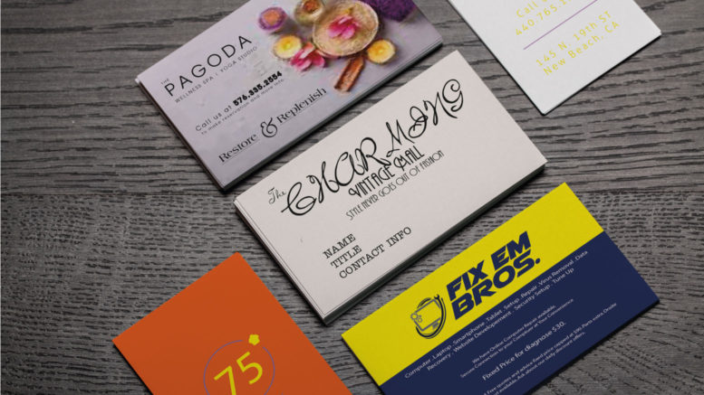 Characteristics of a bad business card design