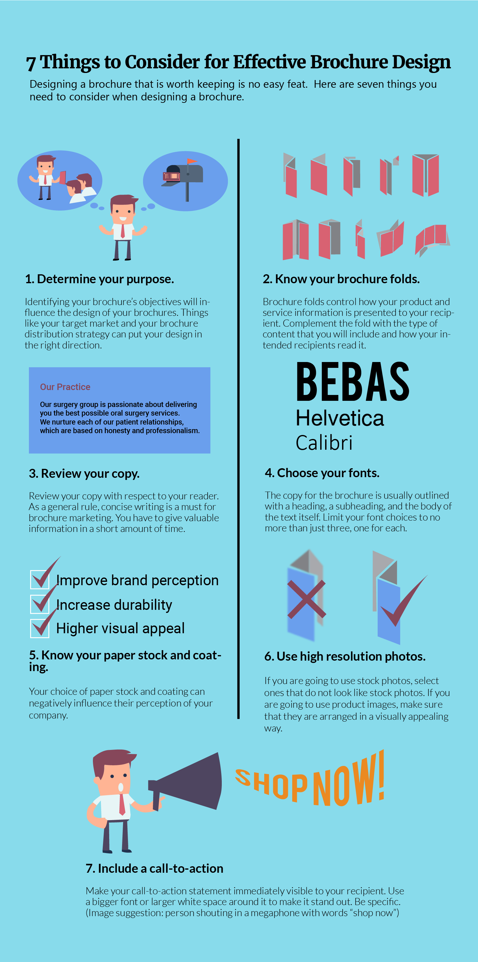 7 Things to Consider for Effective Brochure Design Infographic