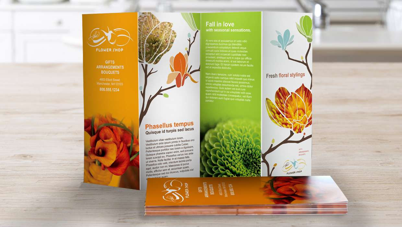 brochure designs for garden