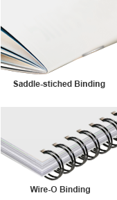 Saddle Stitch and Wire-O Binding