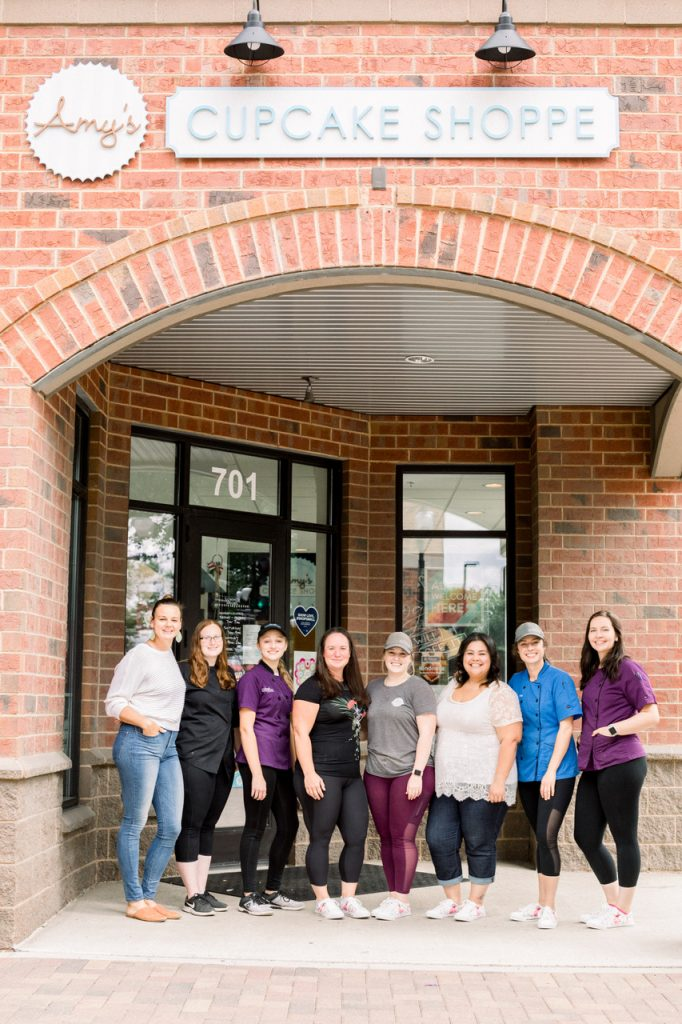 Bakers and staff of Amy's Cupcake Shoppe
