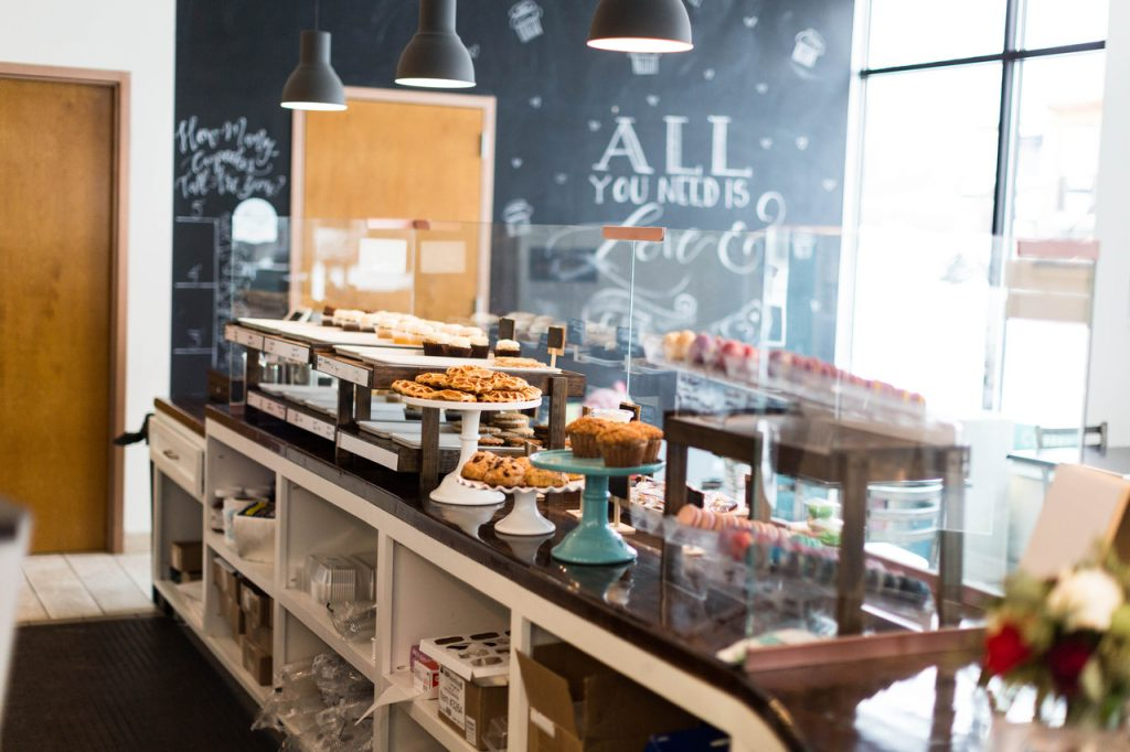 Cakes, cookies, cupcakes inside Amy's Cupcake Shoppe