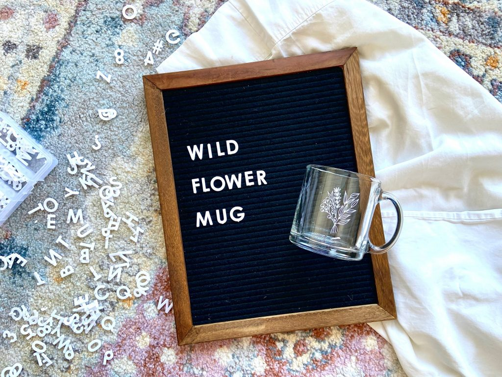 13 oz. wildflower mug from Olea Lettering