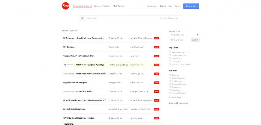 Find Creative  Design   Tech Jobs   Krop