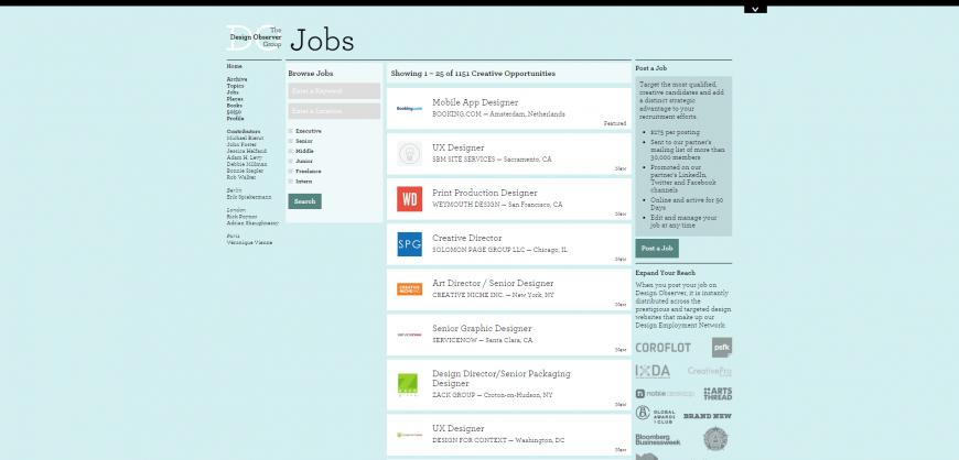 Jobs  Design Observer