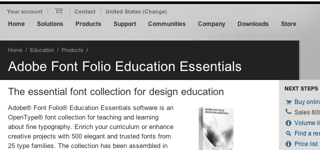 UCreative com - Adobe Font Folio Education Essentials