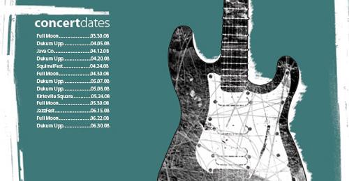 graphic design examples 16 - blues guitarist poster
