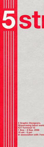 poster design inspiration 11 - 5 stripes