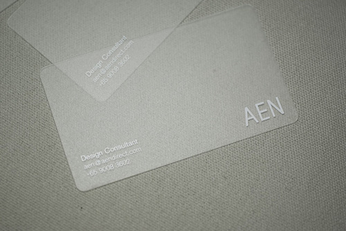 Business Cards - Translucent
