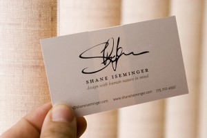 Business Cards - off white