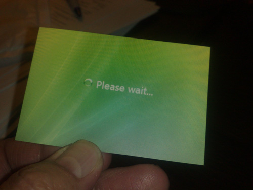 Business Cards - Please Wait