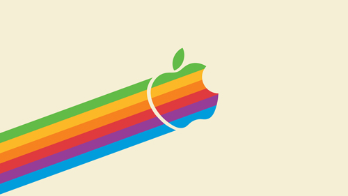 desktop wallpaper designs 13 - flying apple