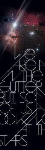 poster design inspiration 23 - gutters and stars