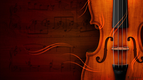desktop wallpaper designs 15 - violin