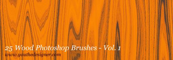 Wood Photoshop Brushes
