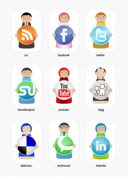 social-bookmarking-characters