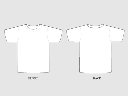 Free Blank T Shirt Template Designs  UcreativeCom
