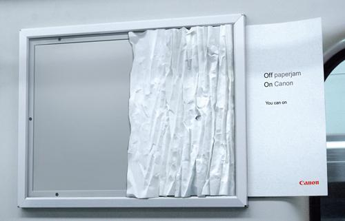 Creative Outdoor Advertisement Design - Canon Paper Jam