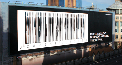 Creative Outdoor Advertisement Design - Barcode Stop the Traffic