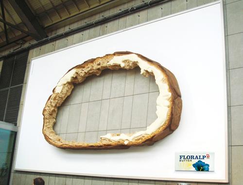 Creative Outdoor Advertisement Design - Floralp Butter