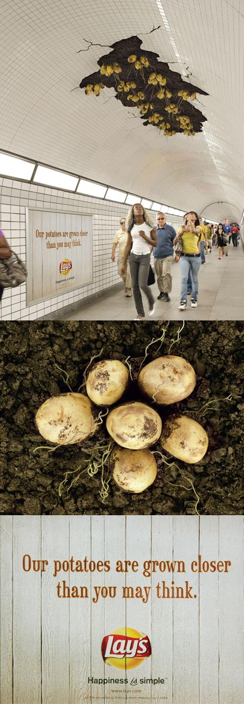 Creative Outdoor Advertisement Design - Lays Chips
