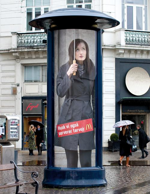 Creative Outdoor Advertisement Design - McDonalds Umbrella
