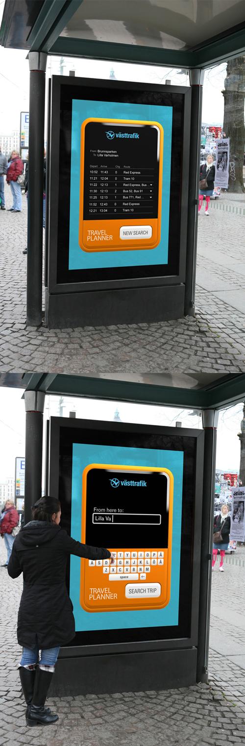 Creative Outdoor Advertisement Design - VastTrafik
