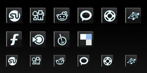 Bevel Dark Social Icons