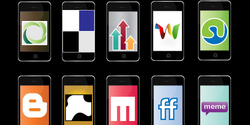 iPhone Social Bookmarking Icons