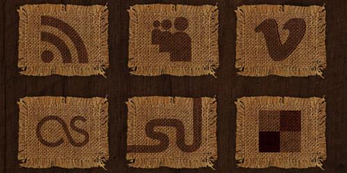 Fabric Social Media Icon Set