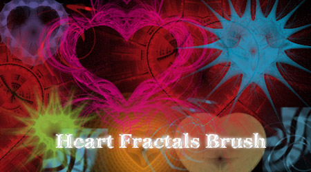 heart fractal brushes