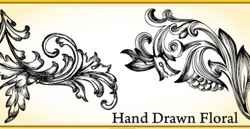 drawn floral vector