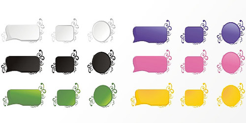 colorful labels vecto