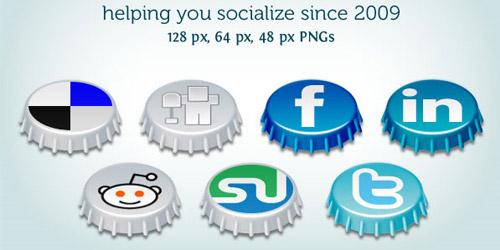 Beer Cap Social Icons