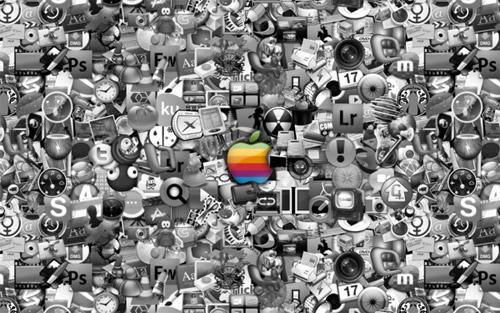 apple mac icons wallpaper