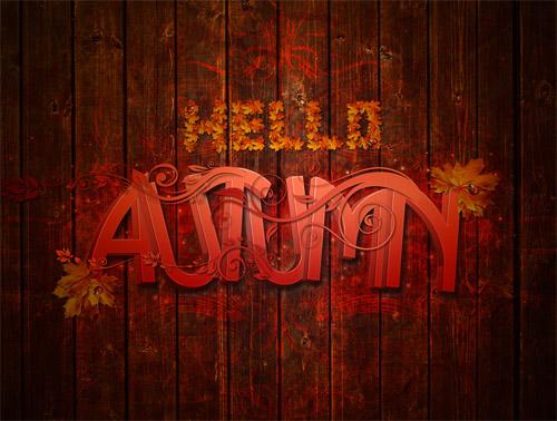 automn typography