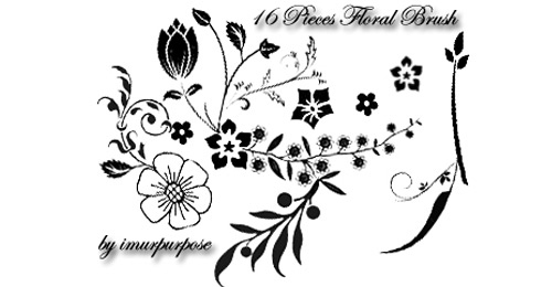 floral brushes cool