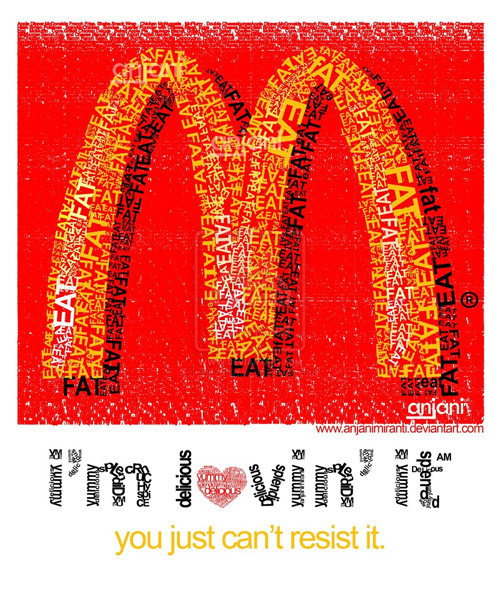 mc donald text