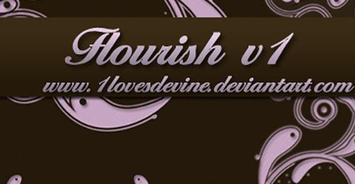 flourish brush photoshop