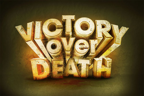 death victory typography