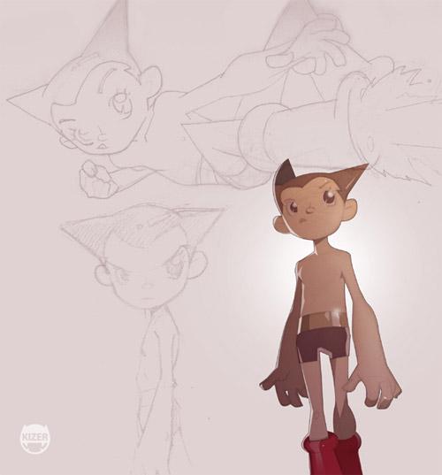 thin astro boy