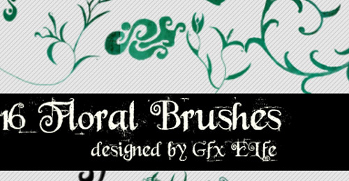floral brush number