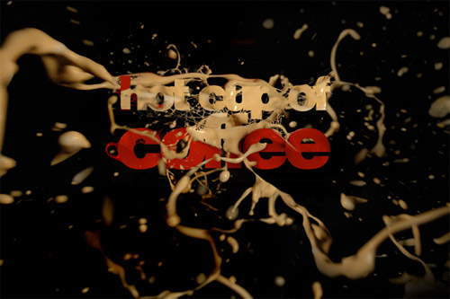 cup of coffee typography