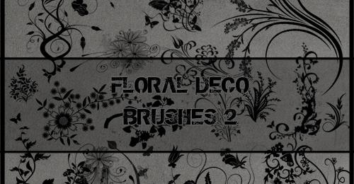 floral deco brush
