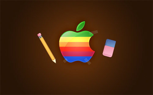 retro apple wallpaper