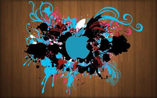 splash apple wallpaper