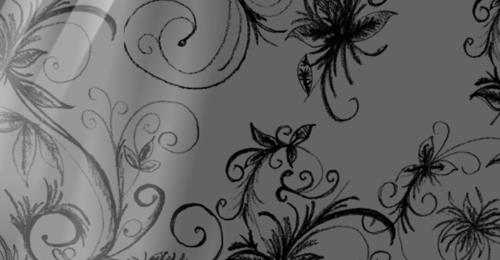 floral stroke