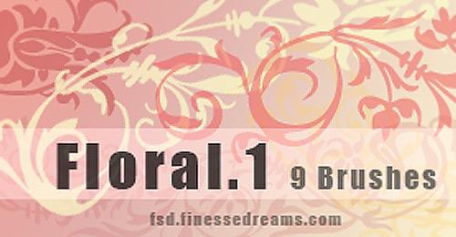 floral brush set scrap