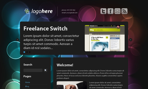Corporate WordPress Themes - Dark n' Clean