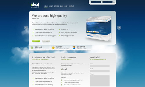 Corporate WordPress Themes - idea Business Shop